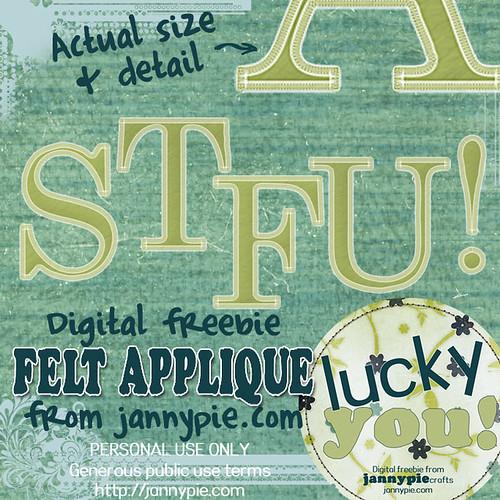 STFU! Felt Applique Alpha