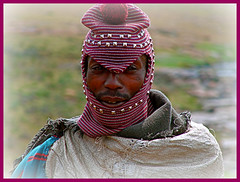 Lesotho villager. (Geoff. McElwaine) Tags: 1001nights coldweather lesotho villager headgear flickrestrellas flickraward platinumbestshot geoafrica