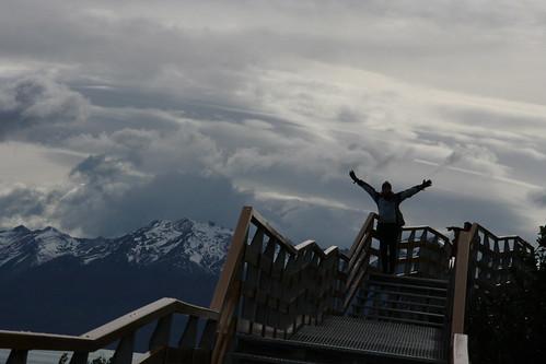 Eliza in front of Glaciar Perito Moreno