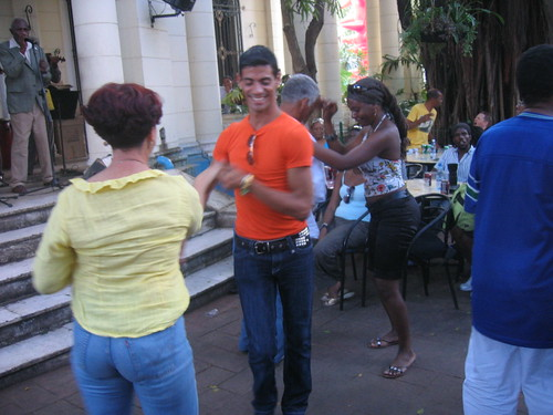 Dancers at the outdoor rhumba party, UNEAC