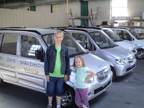 Alexander, Rachel, and the Miles Electric Vehicle