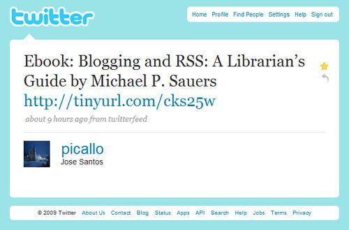 Blogging & RSS via Twitter