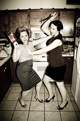 kitchen karnage (perfect.xposure) Tags: violence knives pinup fightretropinup