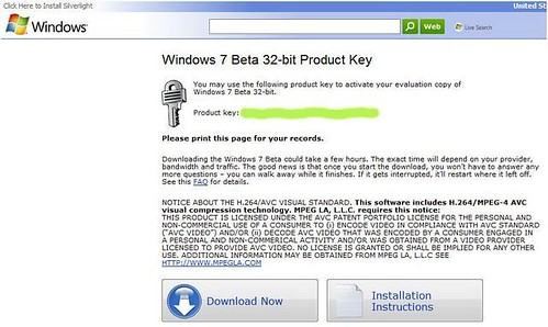 Seriale per Windows 7 Beta