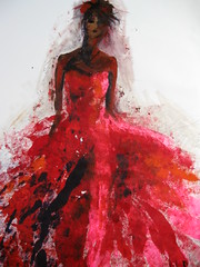 Sapphire queen of the mid-May (Ros Webb art) Tags: art fashion painting figurative femalefigure
