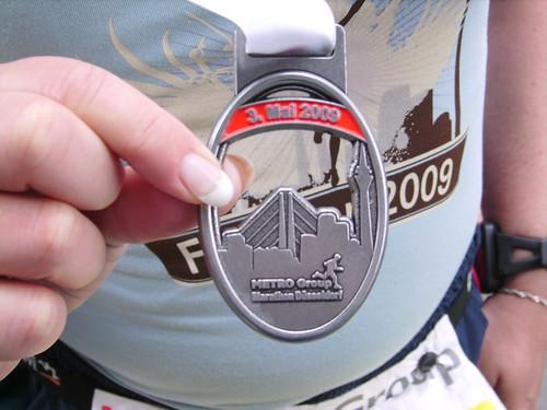 Medaille des Düsseldorfer Marathons 2009