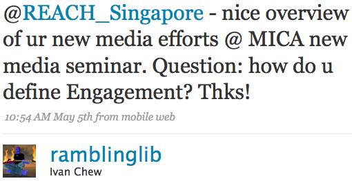 Twitter / Ivan Chew: @REACH_Singapore