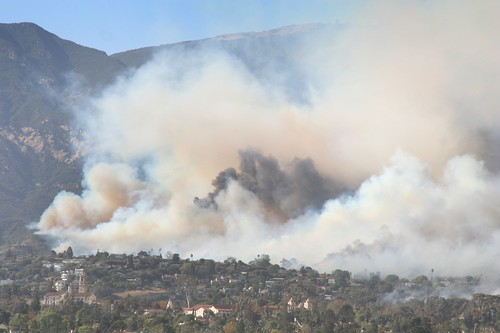 Mission Canyon Area Burning