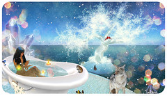 : Snow Bath : (:  :  or  hi ) Tags: winter bath sl lena secondlife bloch lenabloch