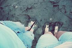 Trompin' through the mud.