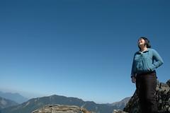 DSC_1468 (Ming - chun ( very busy )) Tags: sky green girl landscape nikon women d70 taiwan   grassland                 14