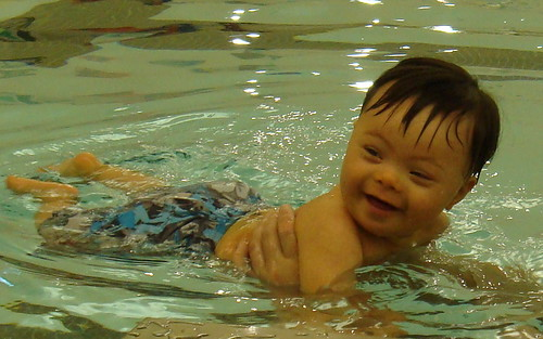 kicking and swimming
