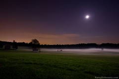 Fog in Valley Forge (Barry J. Schwartz) Tags: moon mist field fog landscape nikon pennsylvania barryschwartz valleyforge valleyforgepa 1424 d700 mergedexposures barryjschwartz barryjschwartzcom