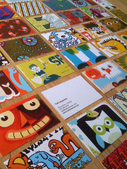 My new business cards (tad carpenter) Tags: illustration poster design silkscreen monsters tad businesscard carpenter