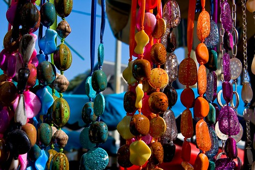 Beads on the market of Saint-Tropez_