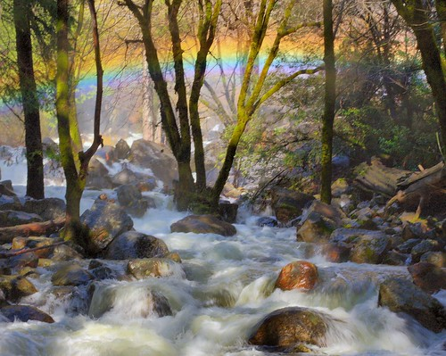 Photo of the Day: Mist Rainbow from Bridalveil Falls by Marc Crumpler