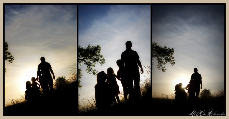 Family Silhouette Collage