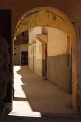 Shades Of The Old (MykReeve) Tags: light shadow yellow corridor morocco meknes المملكةالمغربية المغرب مكناس geo:lat=33891766 geo:lon=5563787