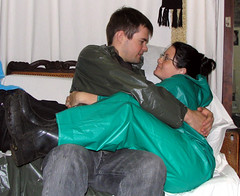 Rainwearcouple hug (Renjasman) Tags: boots rubber raincoat rubberboots rainwear pvc rainboots southafricanrainwear