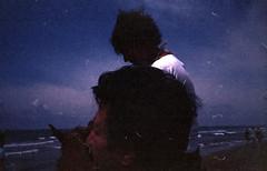 rollei_f100_16 (mariczka) Tags: blue horse sunlight film beach girl analog turkey mediterranean side violet heads 40mm underexposed f23 rolleixf35 brz fujicolorsuperia100 vintageanalogue gulfofantalya horusparadisehotel rolleitrkiyeseries