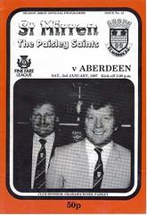 st mirren v aberdeen 19870103 (tcbuzz) Tags: park street love cup st scotland football scottish first perth division paisley premier league johnstone mcdiarmid mirren programmes