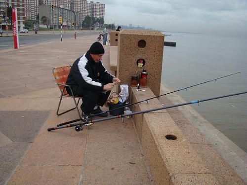 Pescando en Montevideo