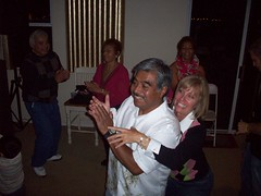 Auntie Nancy and dad, getting down!