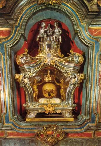 San Luigi Gonzaga, Teschio del Santo