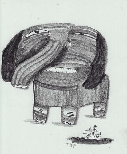 les éléphants et les chiens 1