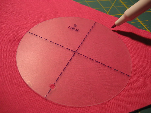 Circles with fusible interfacing