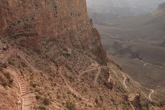 Trail down the Grand Canyon (Grand Canyon, Arizona, United States) Photo