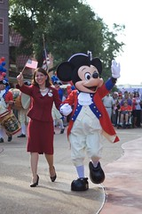 Naturalization Ceremony (matthewcgallagher) Tags: mainstreet magickingdom fantasyland libertysquare waltdisneyworldresort newcitizens immigrationandnaturalization cinderellacastelforecourt