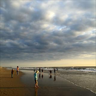 evening on the beach...........