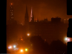 Early morning fog (sarit_mishra) Tags: oakland pittsburgh stpaulscathedral catman cathedraloflearning cathedralmansions cathedralmansionscathedralmansionscatman