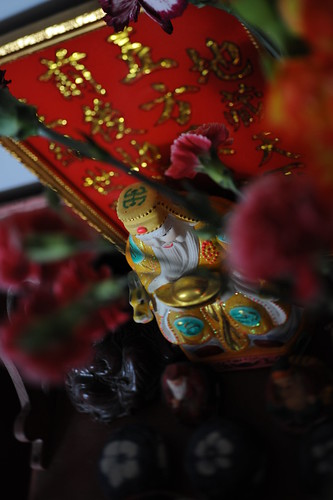 Wedding Tea Ceremony Detail: Buddhist figures