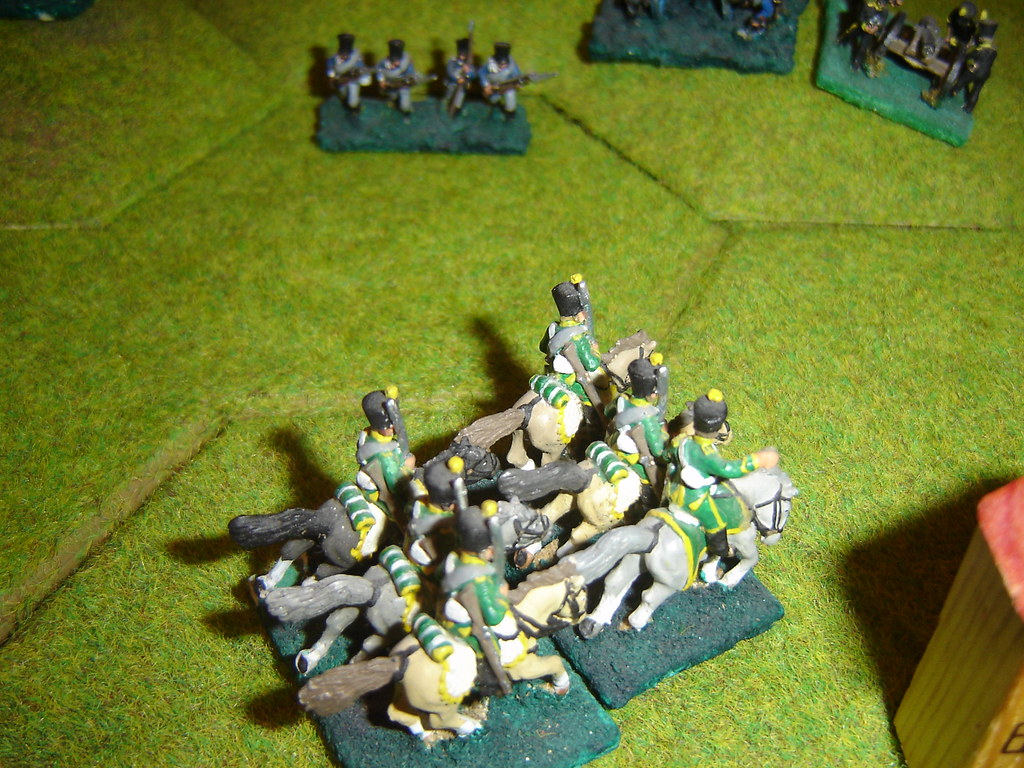 French hussars catch Prussians in Wavre