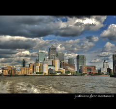 Canary Wharf Docklands London England (j glenn montano 3) Tags: england london thames river britain glenn great row wharf docklands british 1001nights hdr montano canery justiniano
