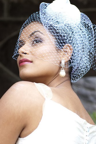 french net veil, cage veil, history of the cage veil, how to wear a cage veil