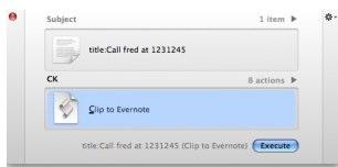 quicksilver script vers evernote