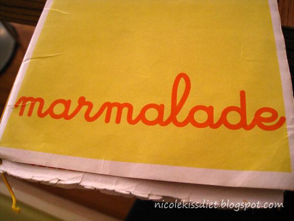 marmalade menu