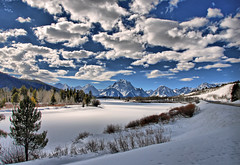 Late Afternoon at the Oxbow Bend (Jeff Clow) Tags: winter reflection nature river landscape searchthebest explore grandtetonnationalpark 3xp oxbowbend jacksonholewyoming jeffrclow