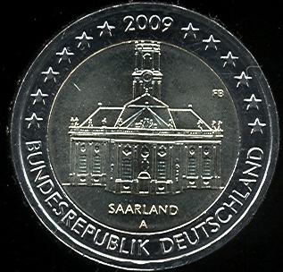 2 euro Nemecko 2009 A, Sársko