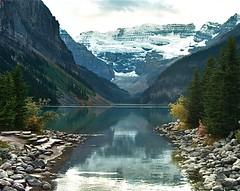 Shadowy Louise (Phil's Pixels) Tags: reflections lakes louise soe mywinners aplusphoto scenicsnotjustlandscapes flickrclassique