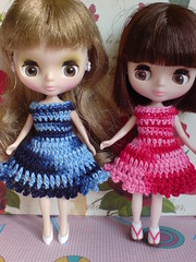 Chic in blue [to USA] and red matiz for Petite Blythe