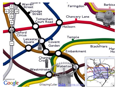Screen Grab of 3D Geographical Tube Map