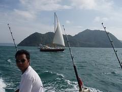 sea boat fishing sail phuket