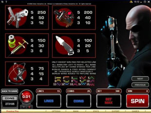 free Hitman slot game
