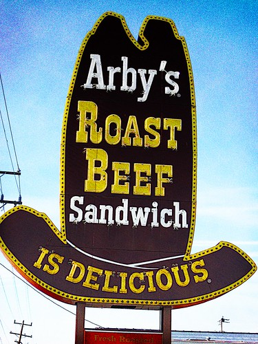 Retro Arbys Sign in Richmond, VA