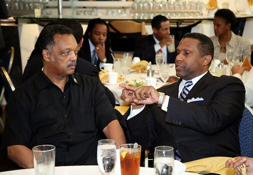 Tavis Smiley and Jesse Jackson at 2009 State of the Black Union