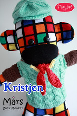 Kristjen Mars Sock Monkey (maribelmade) Tags: mars fashion animal movie toy monkey sweater knitting sock doll knit christian cube jumper knitted custom bale rubiks newsies kristjen maribelmade